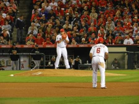 20110510 Angels vs WhSox - Pineiro Staring Down LaPierre - for blog.JPG
