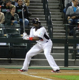 Brandon Phillips at the bat. Sadly baserunners were an issue for Team USA, namely getting them. World Baseball Classic, USA vs. Mexico, March 8, 2013. Photo by This is a very simple game...