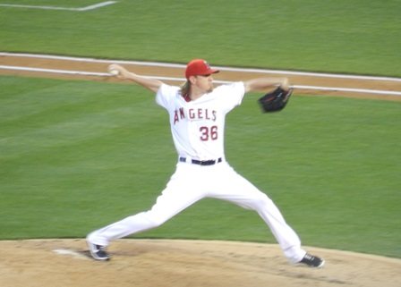 The man of the hour, our hometown hero, Jered Weaver, back on the mound at last!! Freeway Series, Angels vs. Dodgers, May 29, 2013. Photo by This is a very simple game...